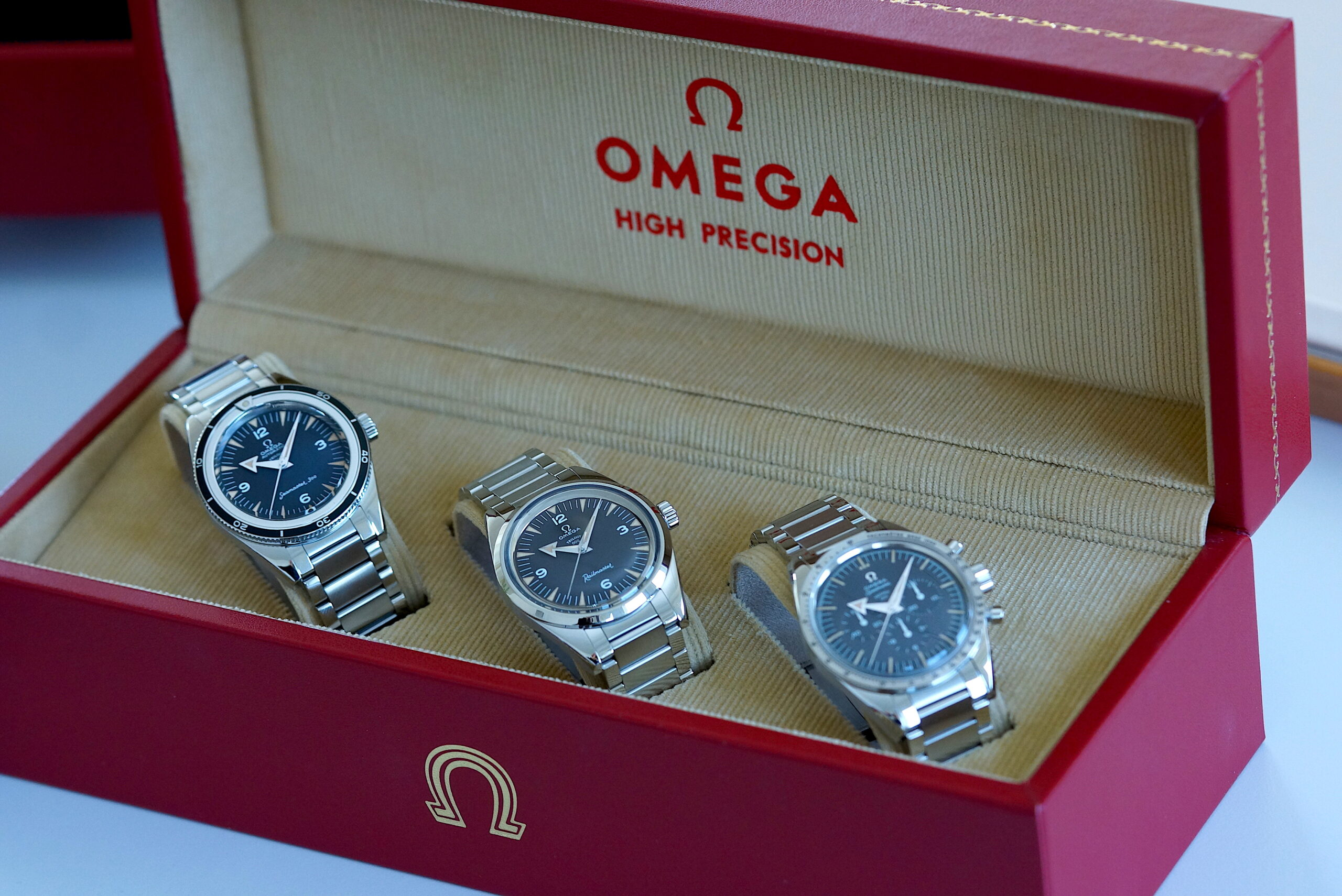 Omega 1957 Trilogy 60th Anniversary Limited Editions TRIO Set