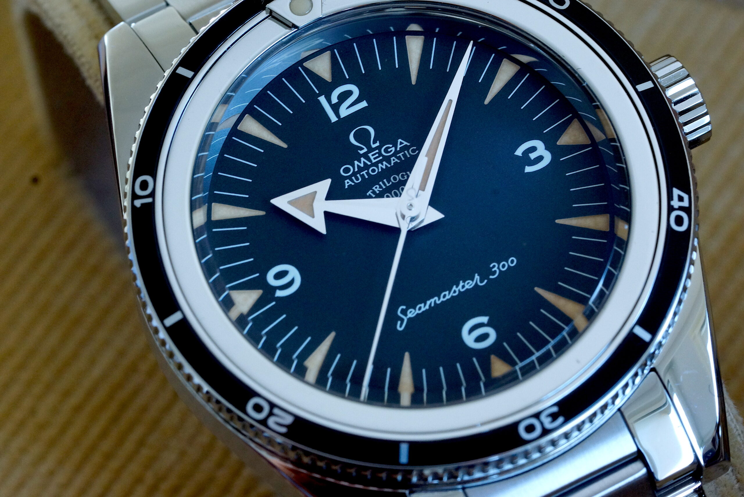 Omega 1957 Trilogy SEAMASTER 300 Master Co-Axial Chronometer from TRIO Set