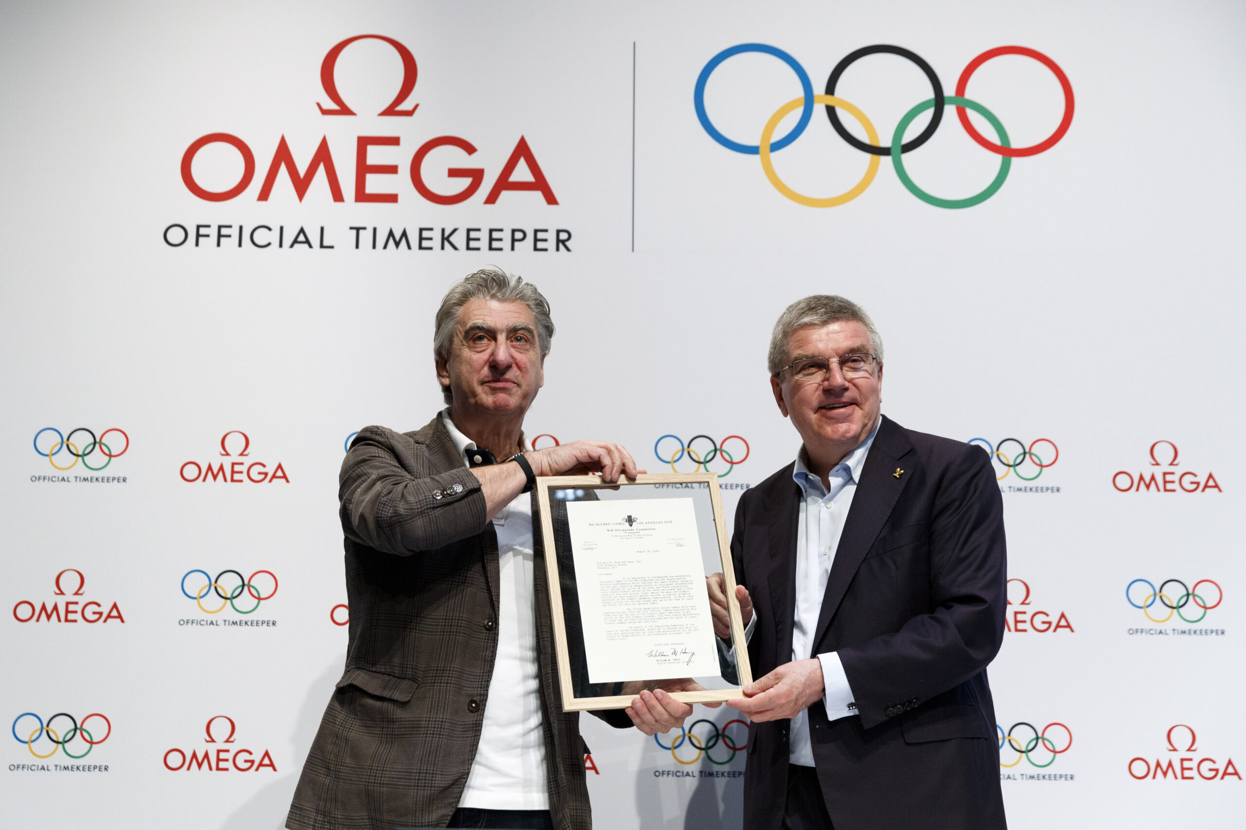 Nick Hayek, CEO of Swatch Group and IOC President Thomas Bach announced the extension of Omega´s global partnership with the International Olympic Committee (IOC) through to 2032