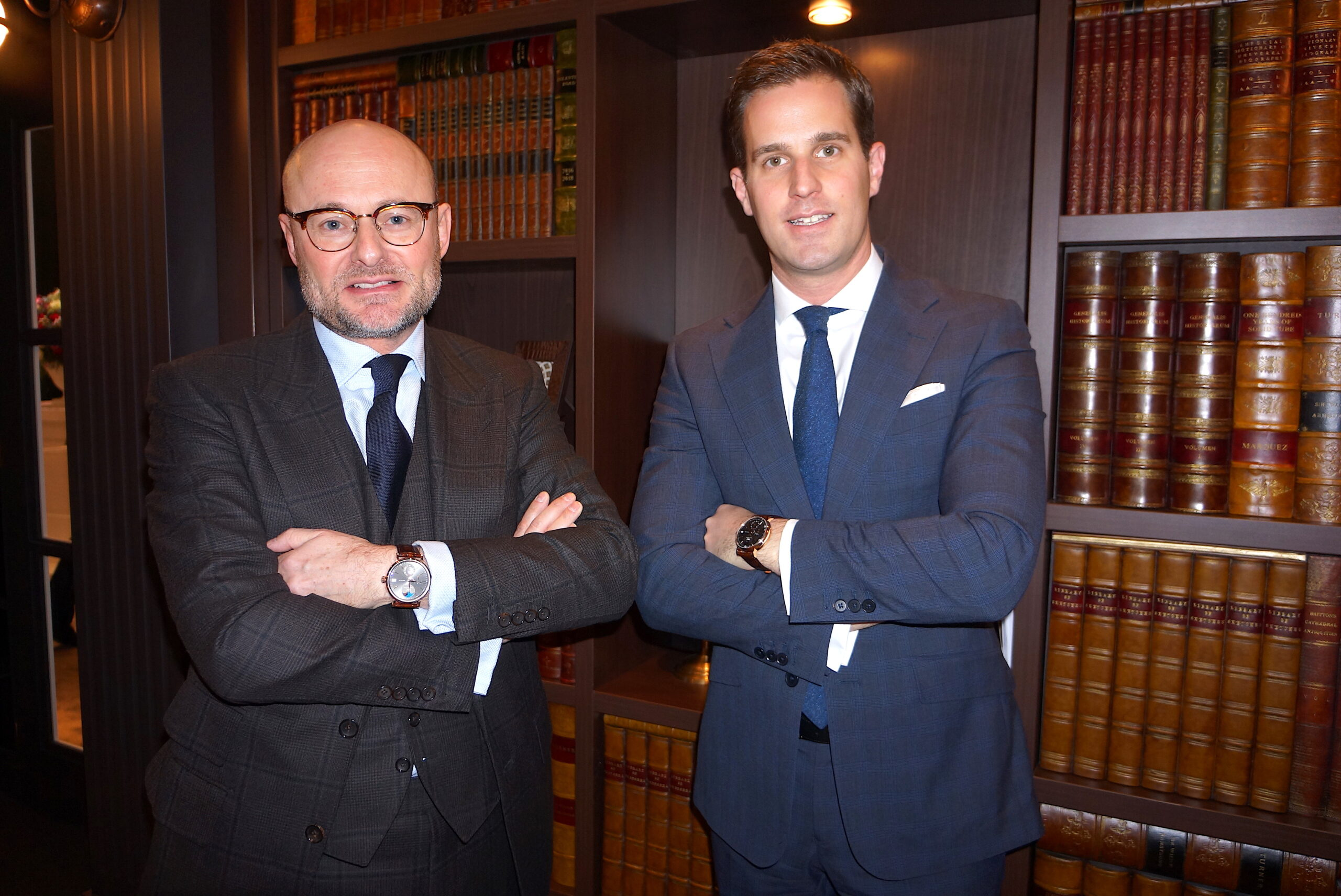 Georges Kern and Chris Granger-Herr this year in January at the SIHH in Geneva