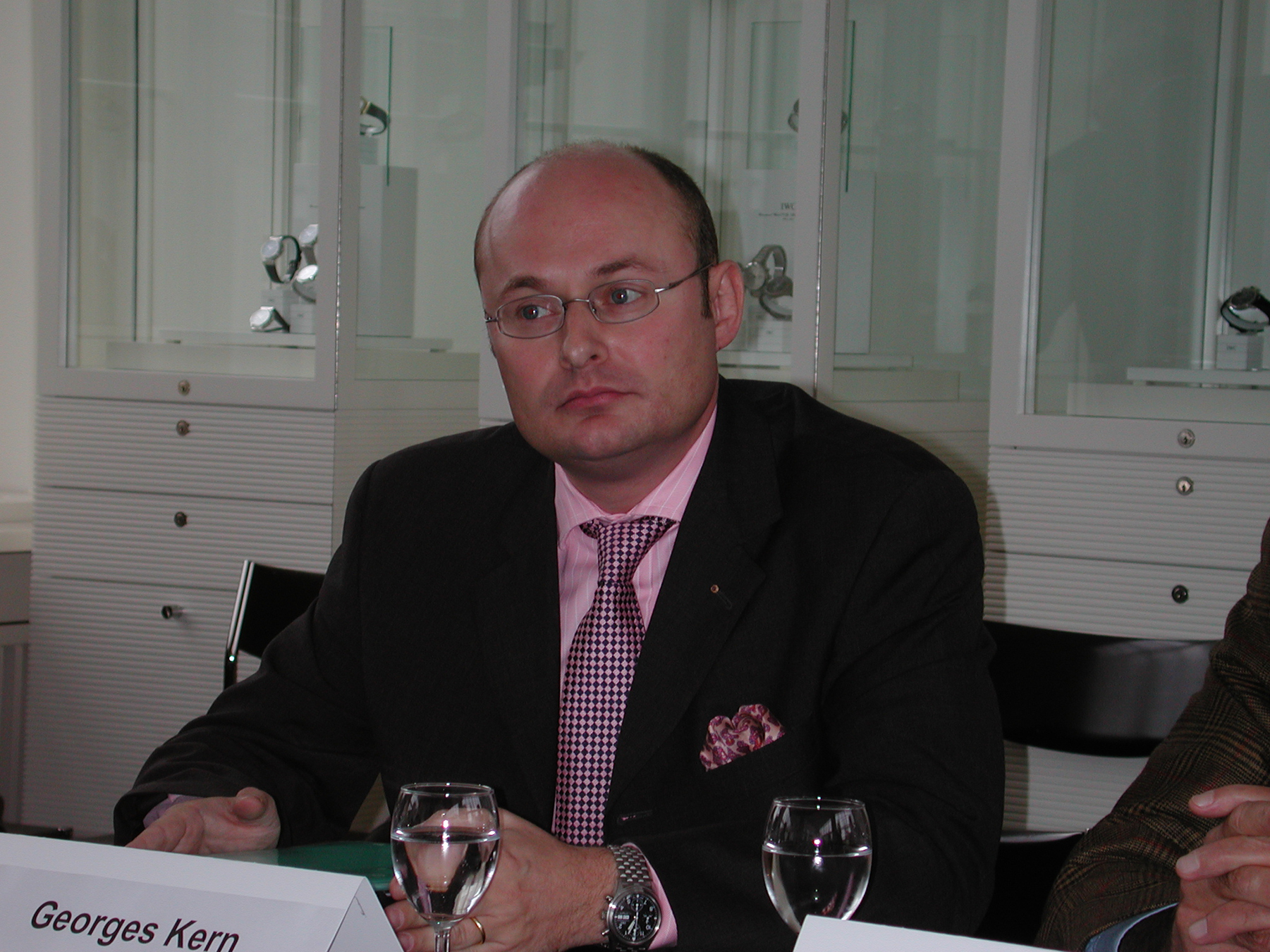 Georges Kern, November 2001,  some days before he was announced to be the new CEO of IWC Schaffhausen