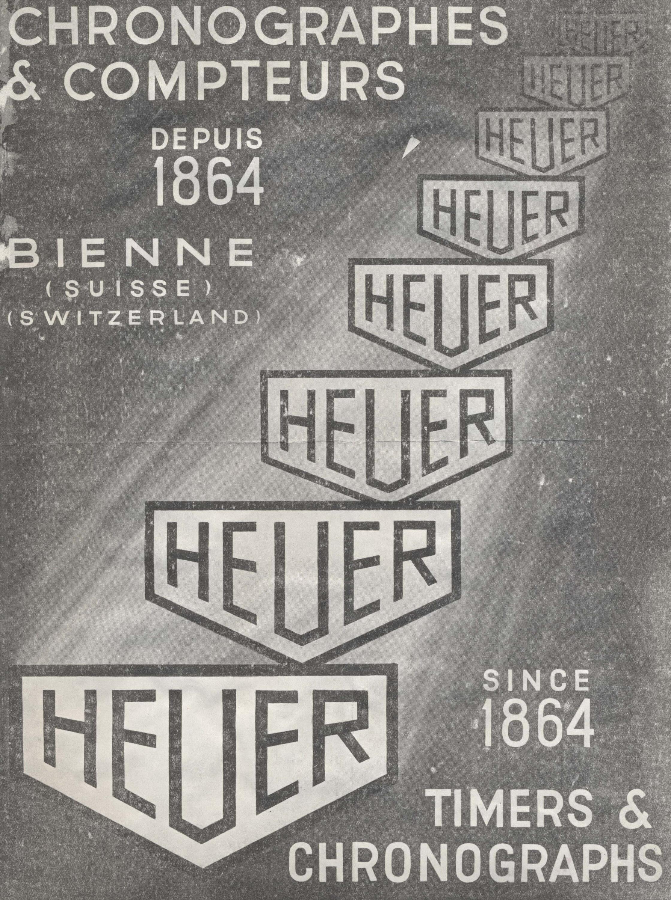 Heuer advert from 1936