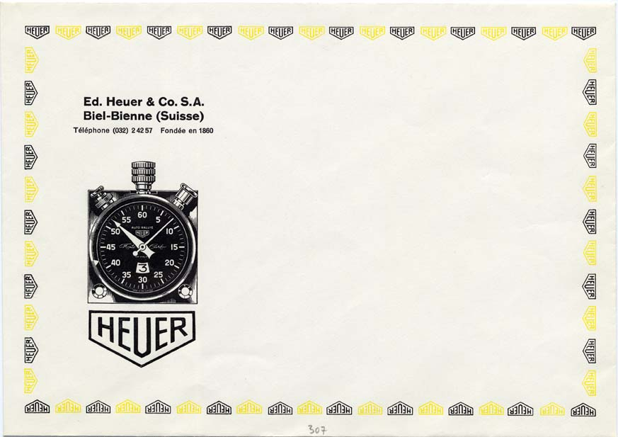 A Heuer envelope logo