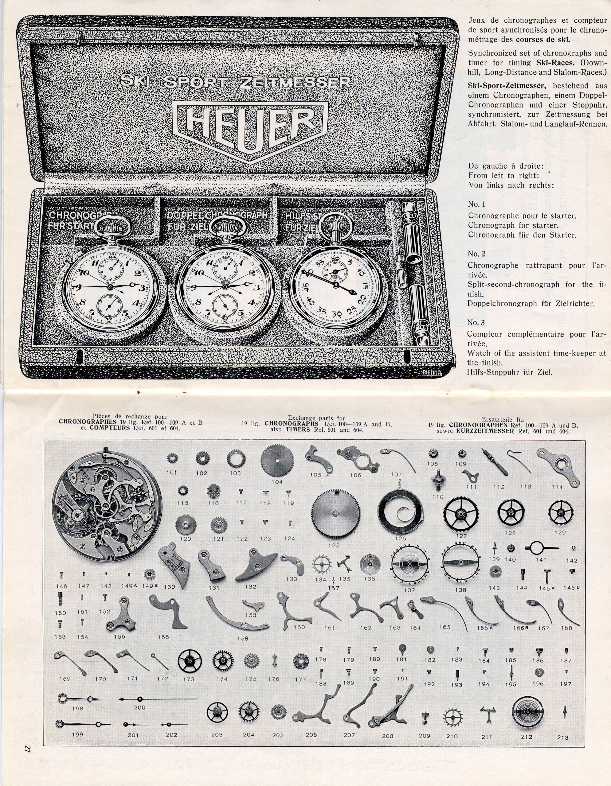 A Heuer catalog from the 1930s