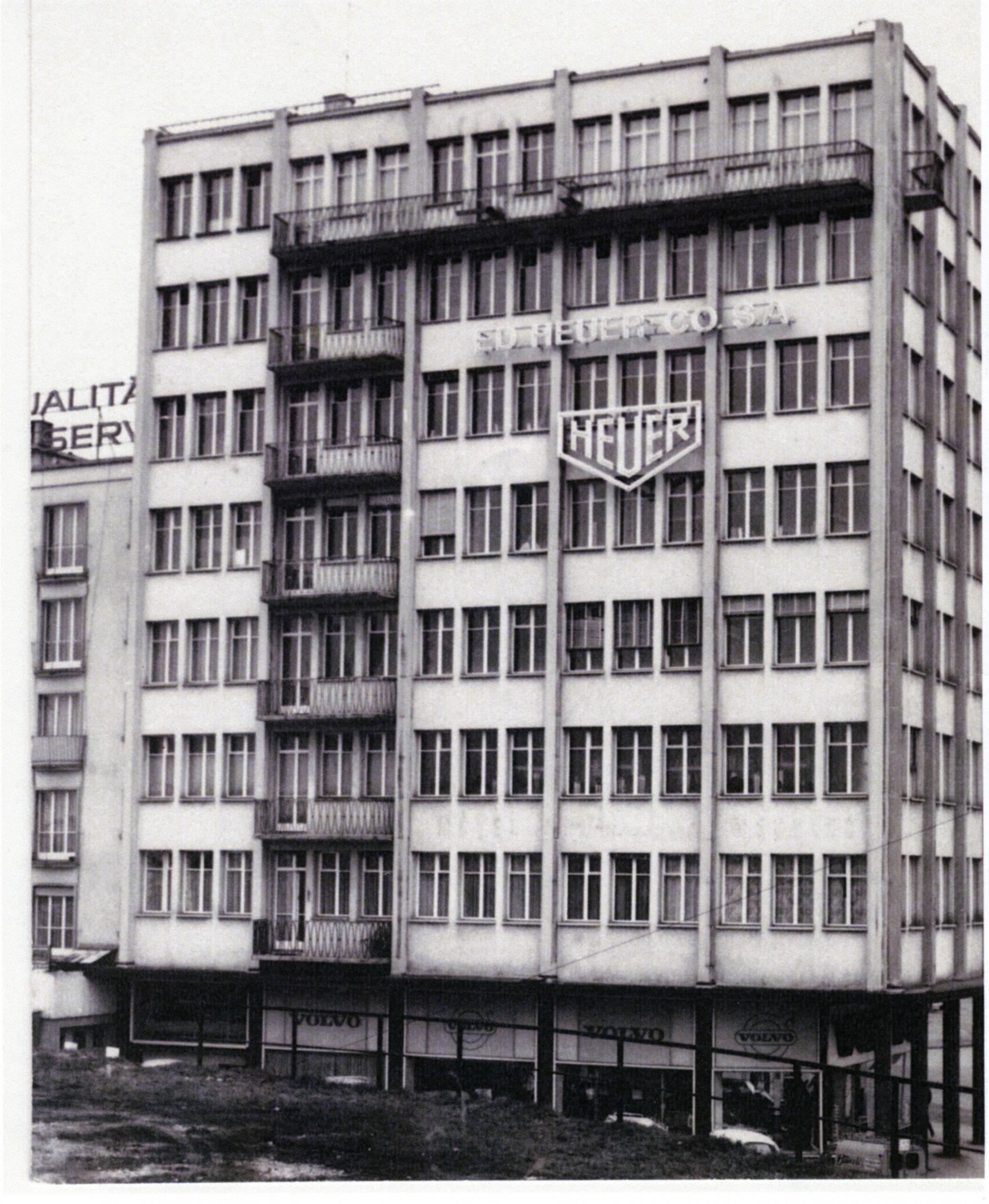 The Heuer building in Biel / Switzerland in the 1960s