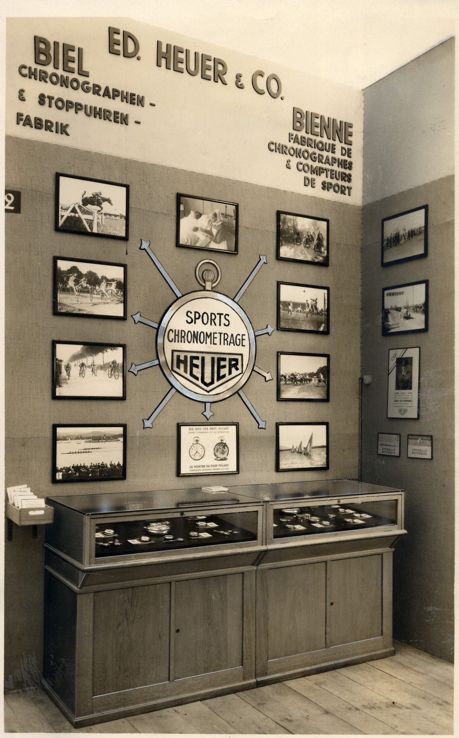 A Heuer showcase from 1931