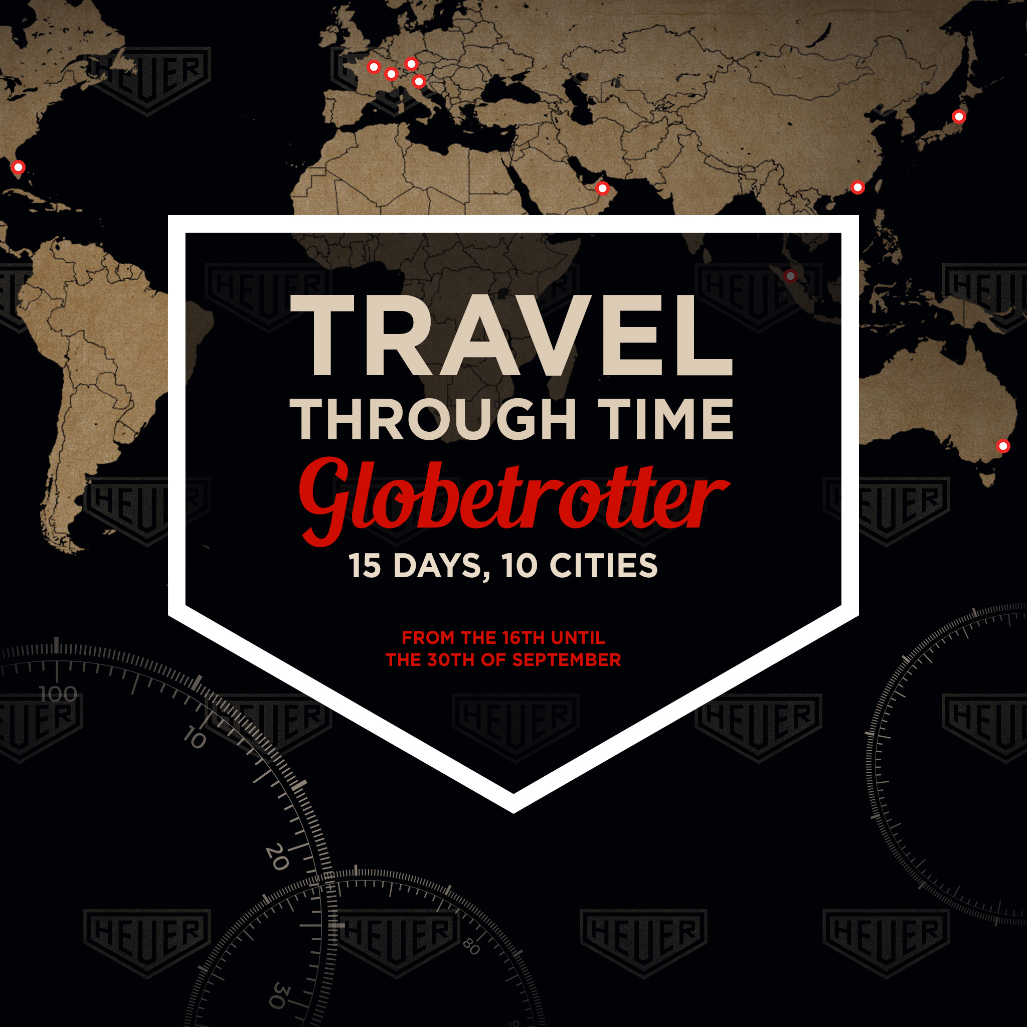 Presenting the Heuer Globetrotter exhibition