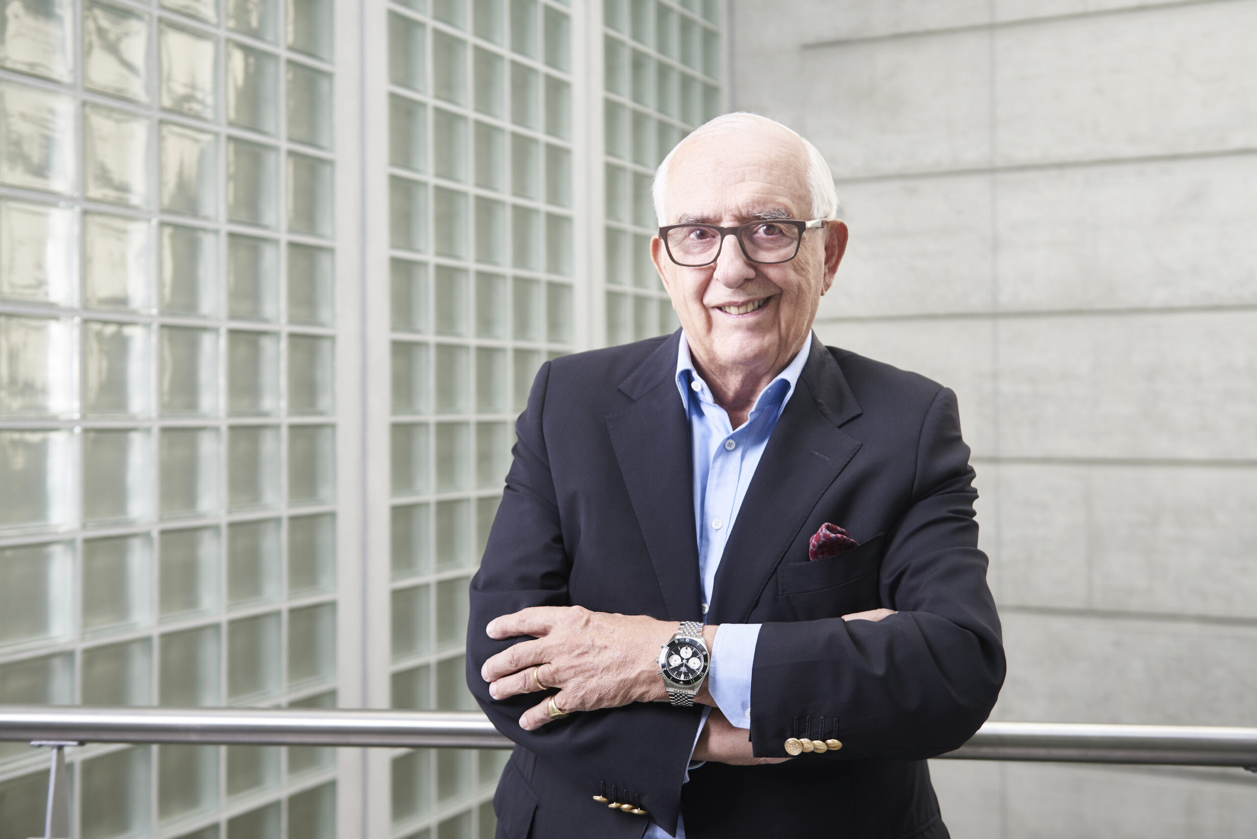 Jack W. Heuer in 2017, proudly sporting the new Autavia