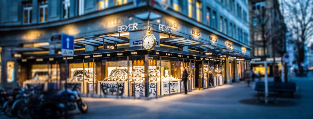 Beyer Chronometrie located at Bahnhofstrasse in Zürich