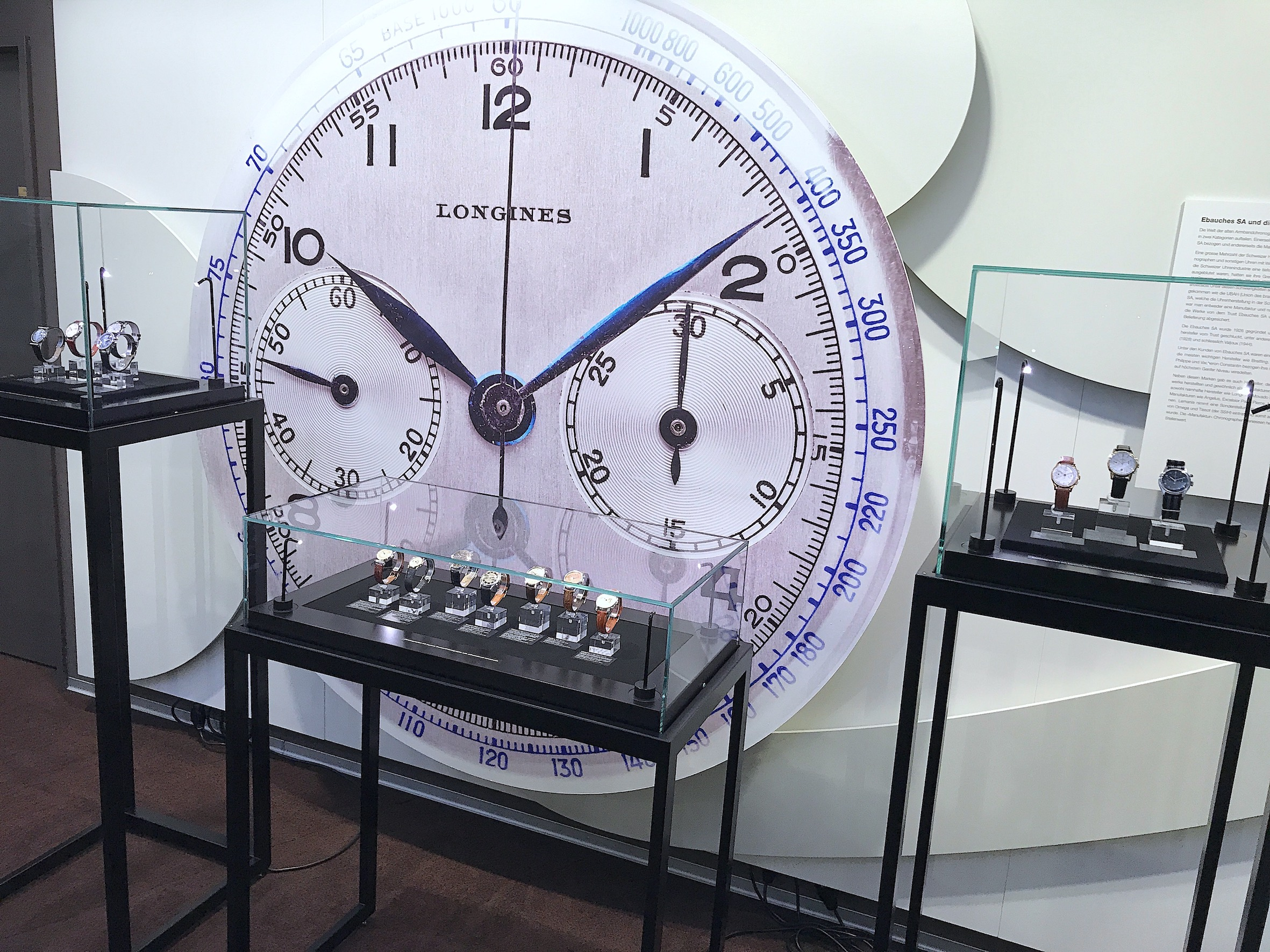 Beyer Clock and Watch Museum Exhibition Chronograph in the course of time