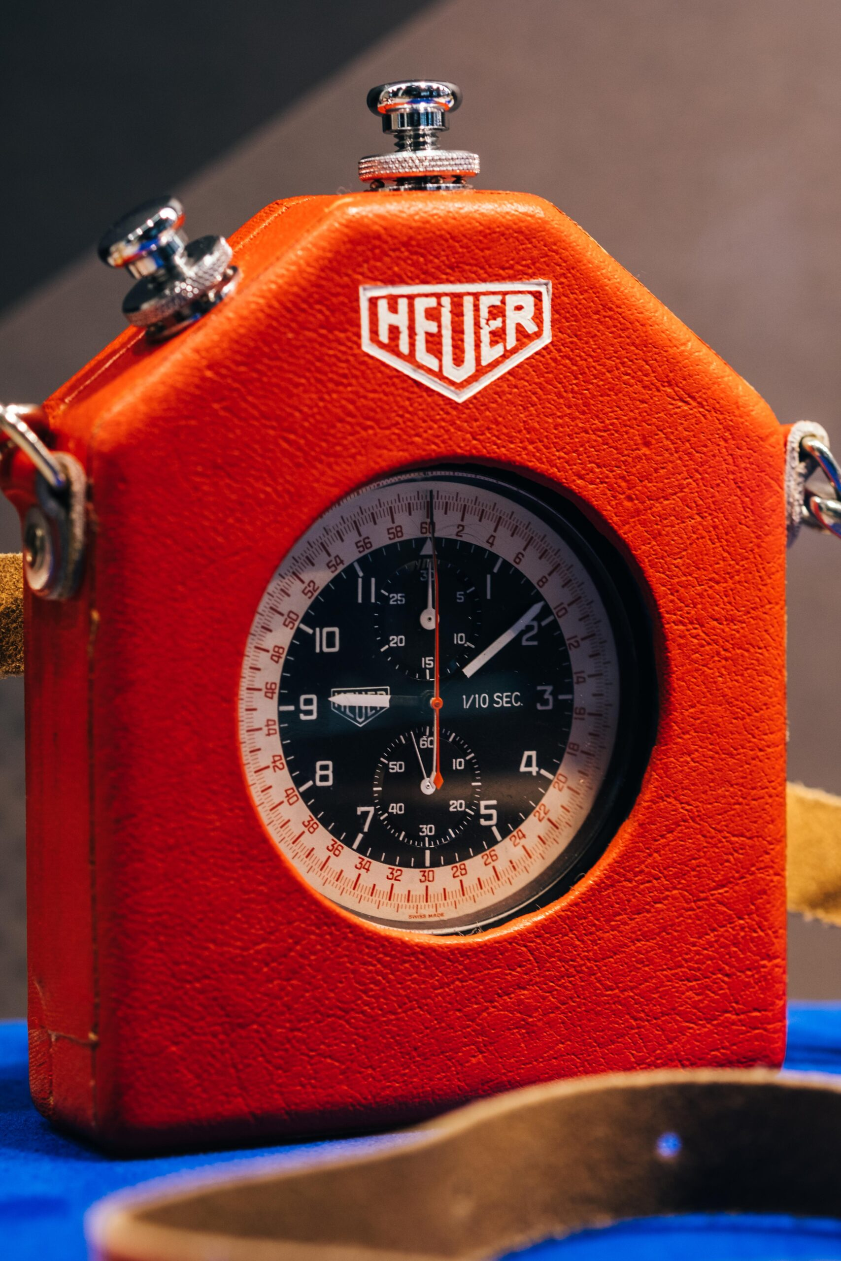 Heuer Split Second Pocket Chronograph with red carry box