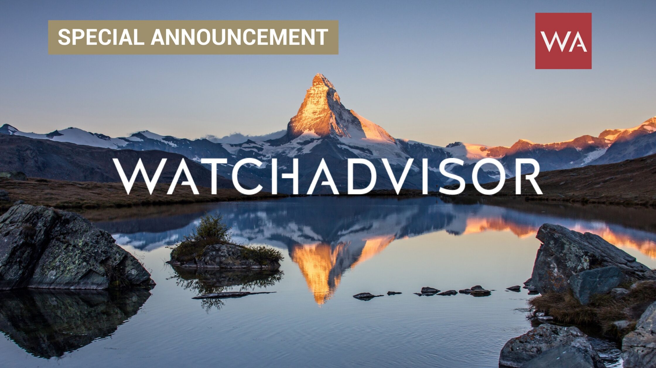 WatchAdvisor Special Announcement