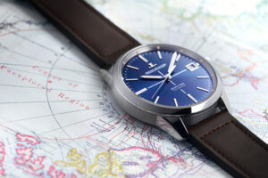 Jaeger-LeCoultre presents a Geophysic True Second with a blue dial limited to 100 pieces