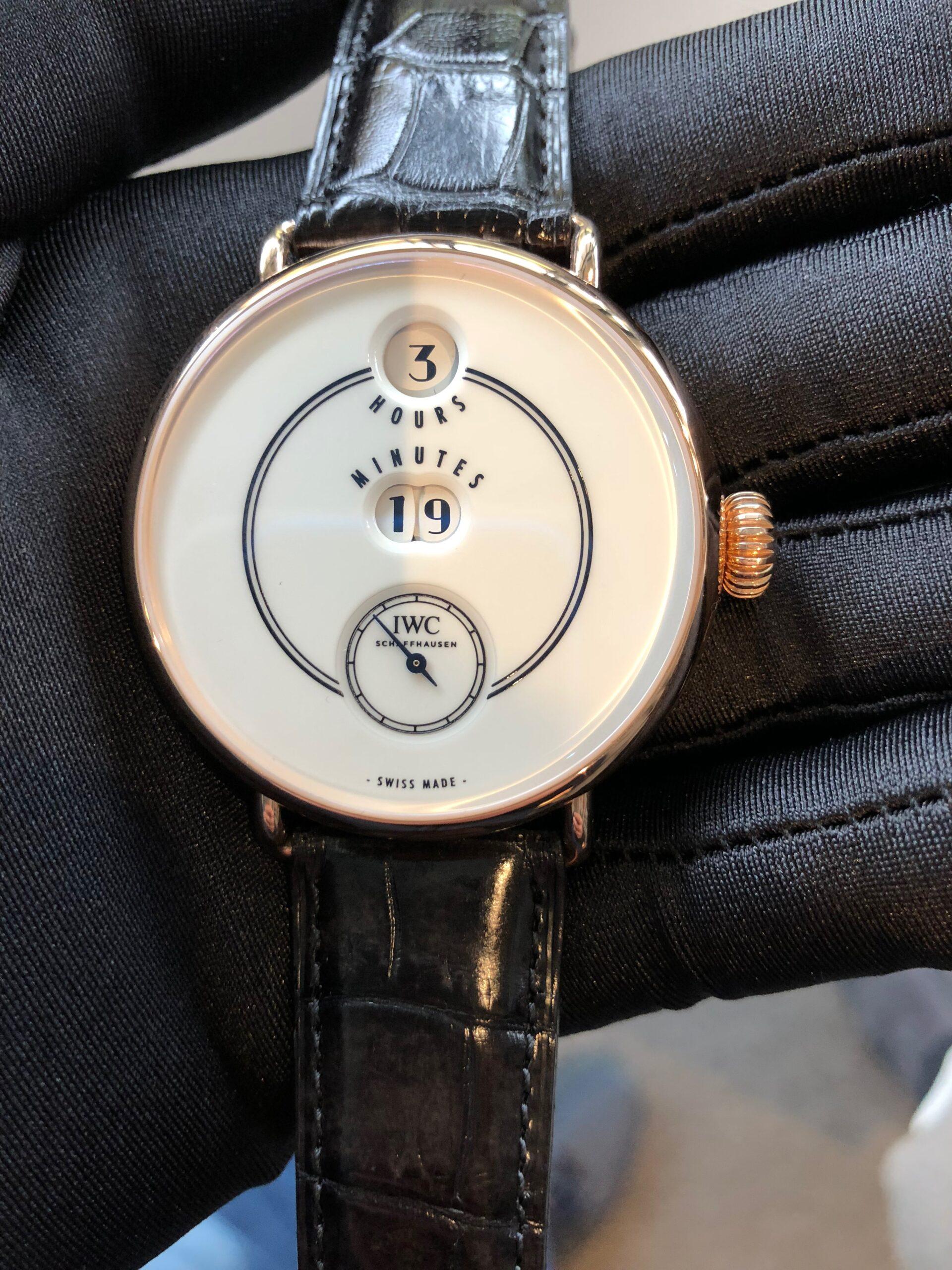 The IWC Tribute to Pallweber Edition 150 Years wristwatch