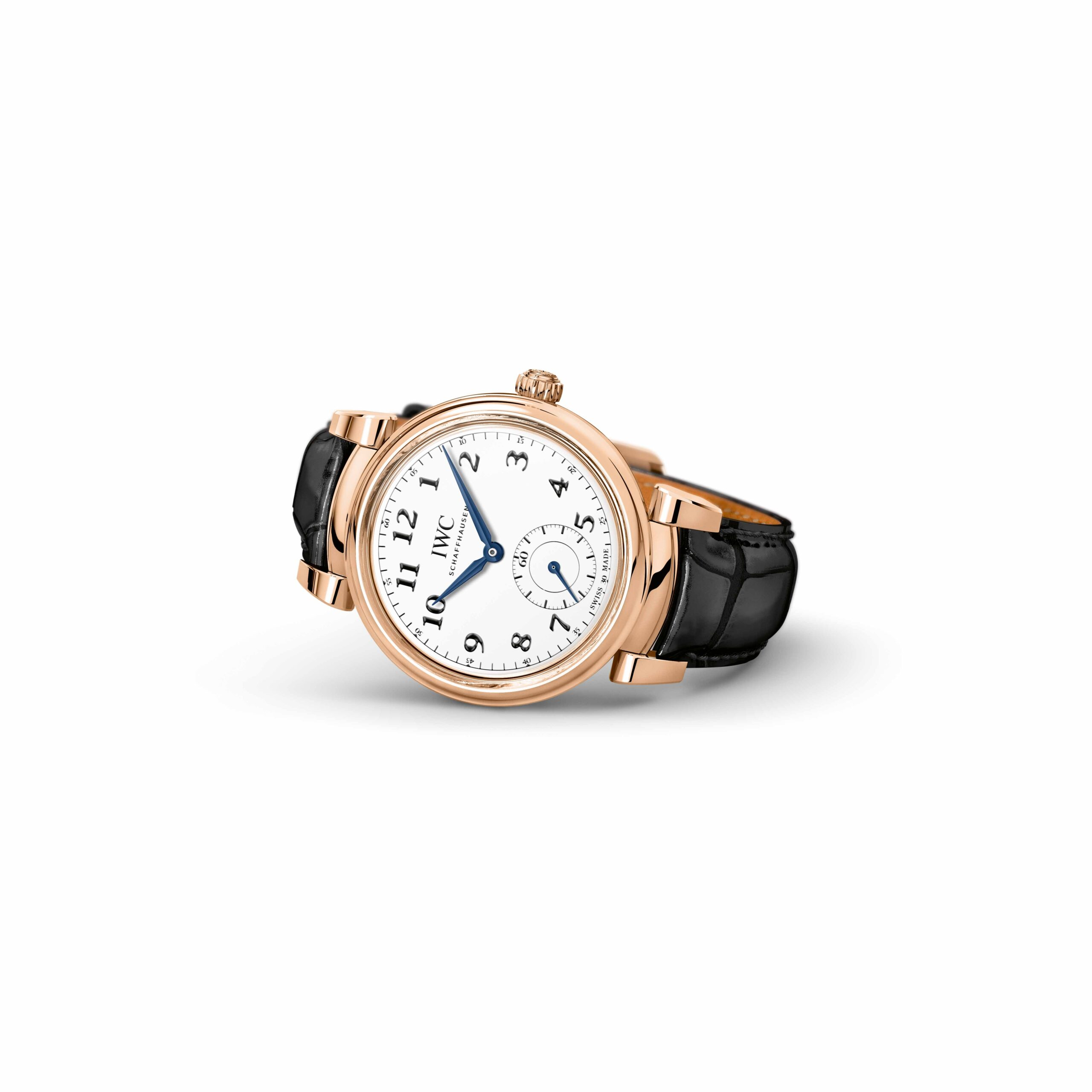 "IWC Da Vinci Automatic Edition ""150 Years"" (Ref. 3581) 18-carat red gold, white dial with lacquered  nish, blued hands"