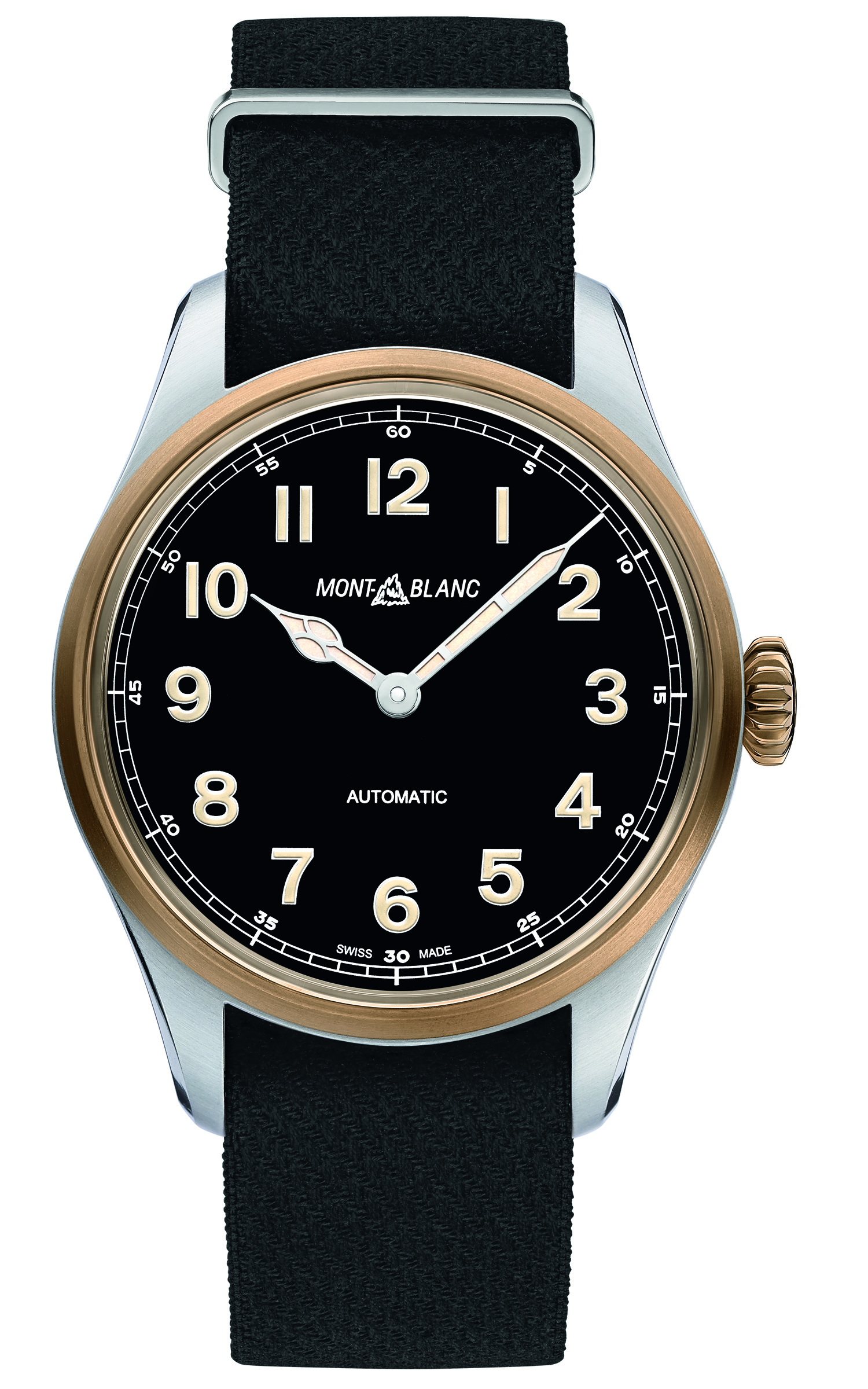 Montblanc 1858 Automatic. The Montblanc 1858 Automatic is water resistant to 100 metres and is certified by the Montblanc Laboratory Test 500.