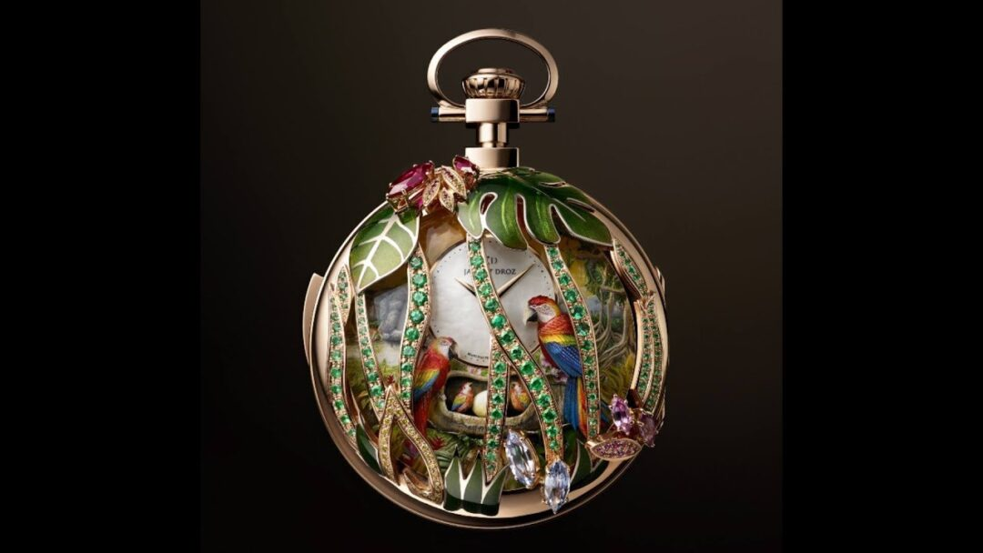 Baselworld 2018: Jaquet Droz Parrot Repeater Pocket Watch (One-of-a-Kind Watchmaking)