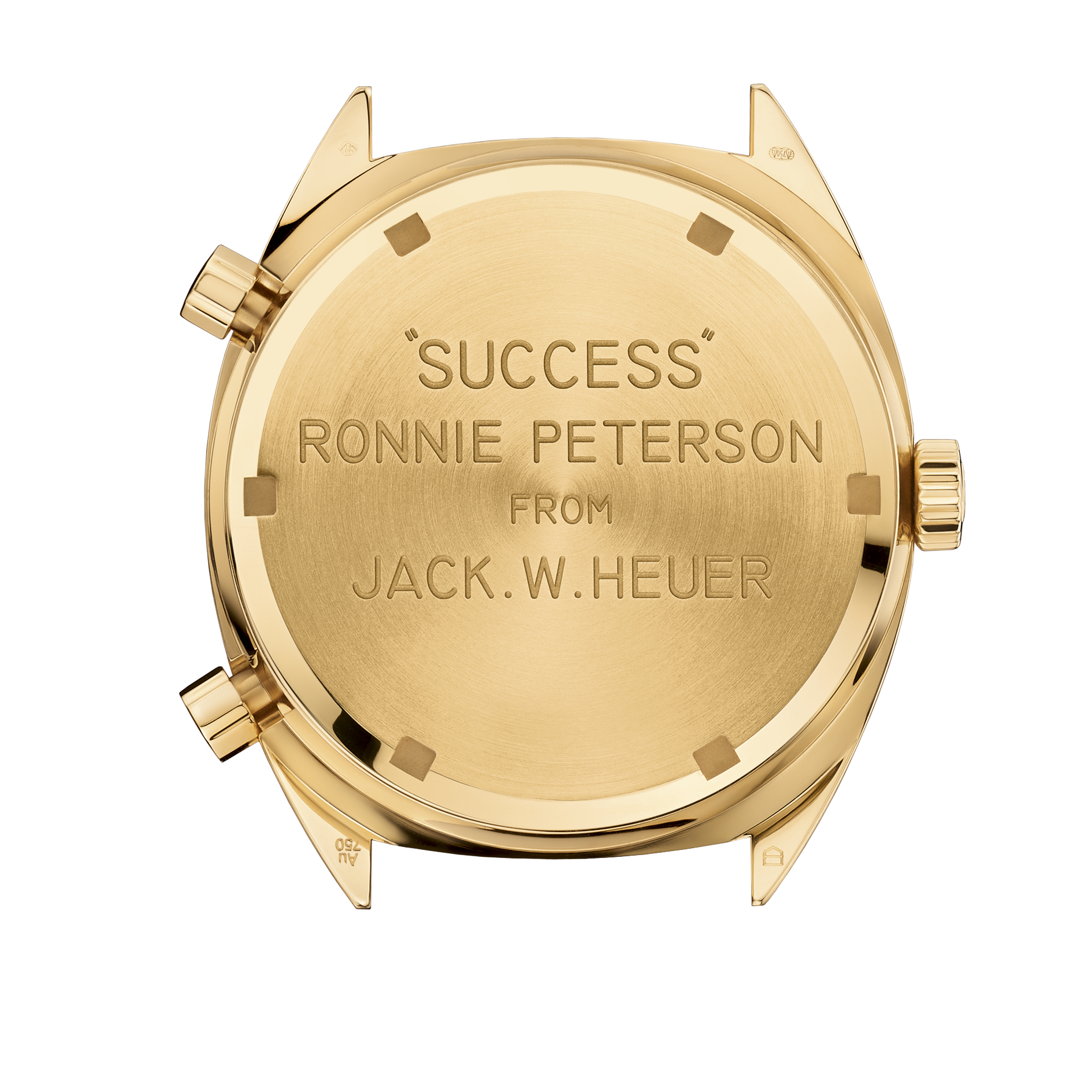 "The back of the watch was engraved with ""Success Ronnie Peterson from Jack W. Heuer""."
