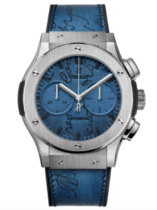 Classic Fusion Berluti Scritto Ocean Blue 45mm (Ref. 521.NX.050B.VR.BER18)