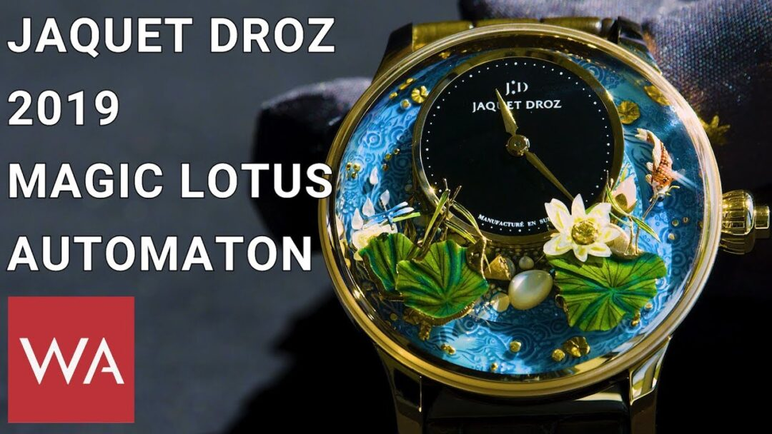 Jaquet Droz 2019. Magic Lotus Automaton - A ticking Zen garden.