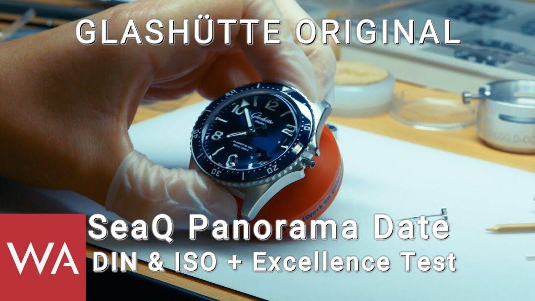Glashütte Original SeaQ Panorama Date - DIN 8306 & ISO 6425 Test + Excellence Test