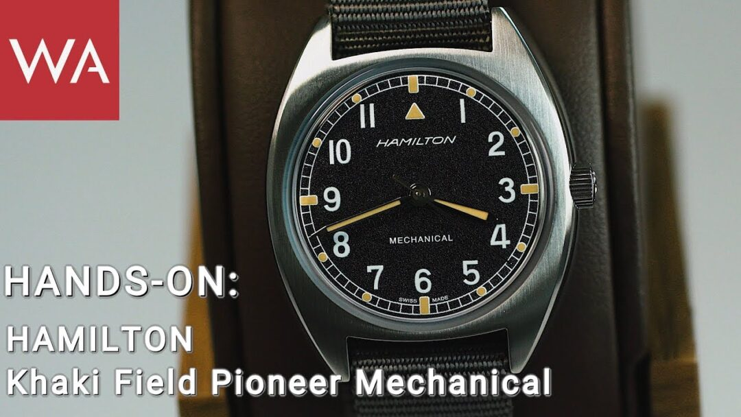 Hamilton CEO Dolla presents the 33x36 mm Khaki Pilot Pioneer Mechanical