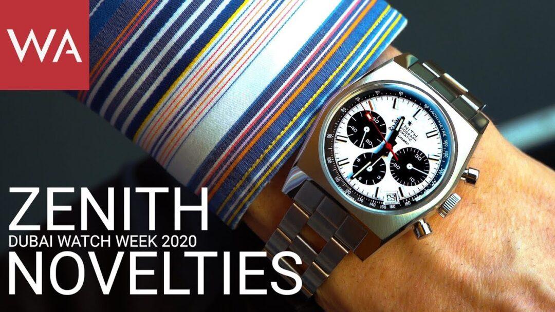 Zenith novelties presented by CEO Julien Tornare at LVMH Watch Week Dubai 2020