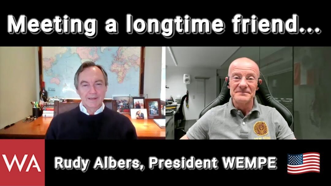 Meeting a longtime friend... Rudy Albers, President Wempe USA