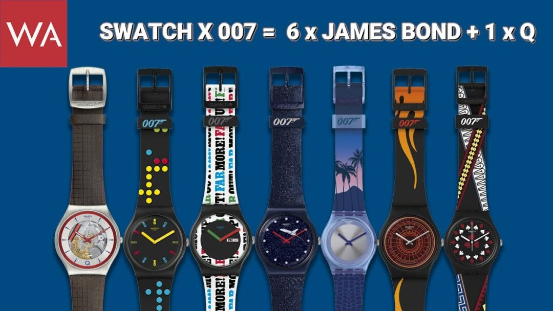 SWATCH goes James Bond 007. Hands-on seven iconic watches.