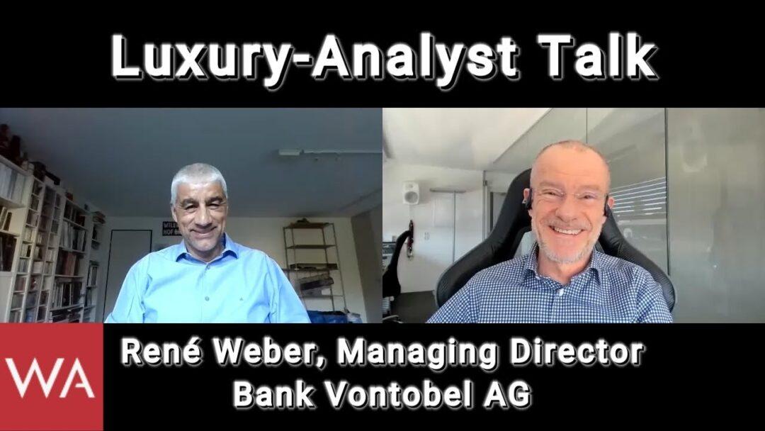 Luxury-Analyst Talk: René Weber, Managing Director Bank Vontobel AG