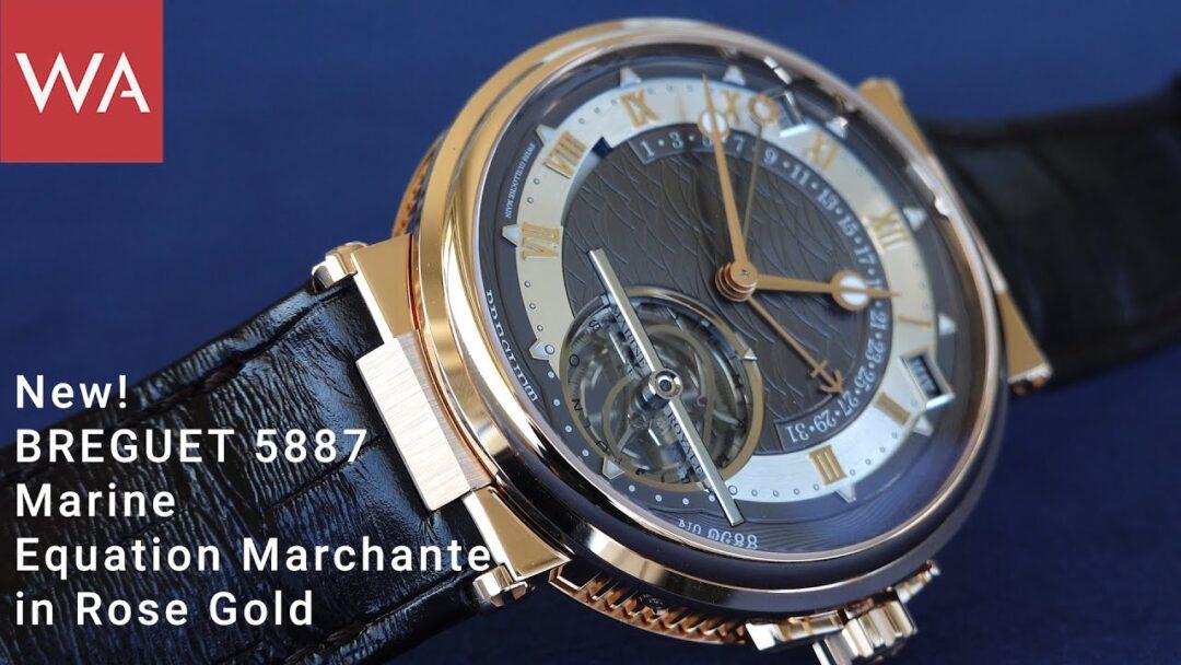 Hands-on: BREGUET Ref. 5887 MARINE Equation Marchante. NEW! Rose Gold.