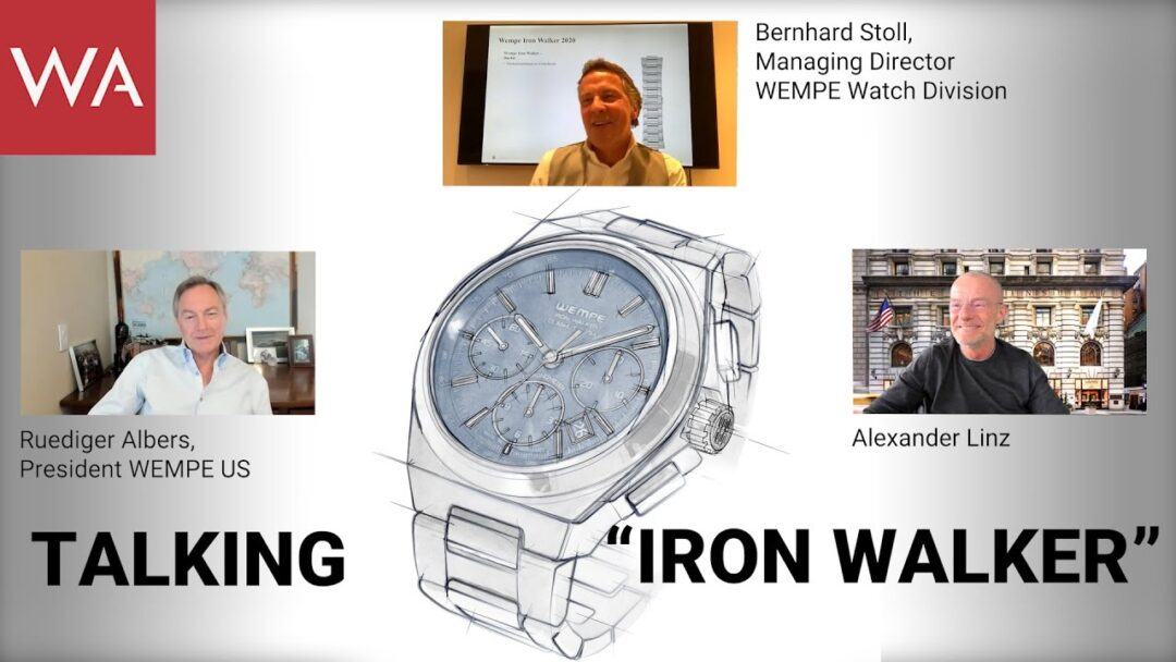 Talking Wempe Glashütte I/SA Iron Walker with Bernhard Stoll & Ruediger Albers