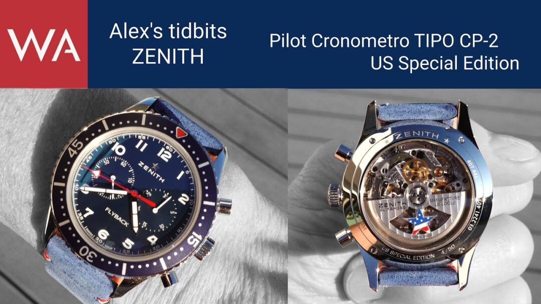 Alex's tidbits: ZENITH Cronometro TIPO CP-2 US Special Edition. Limited Edition 50 pieces.
