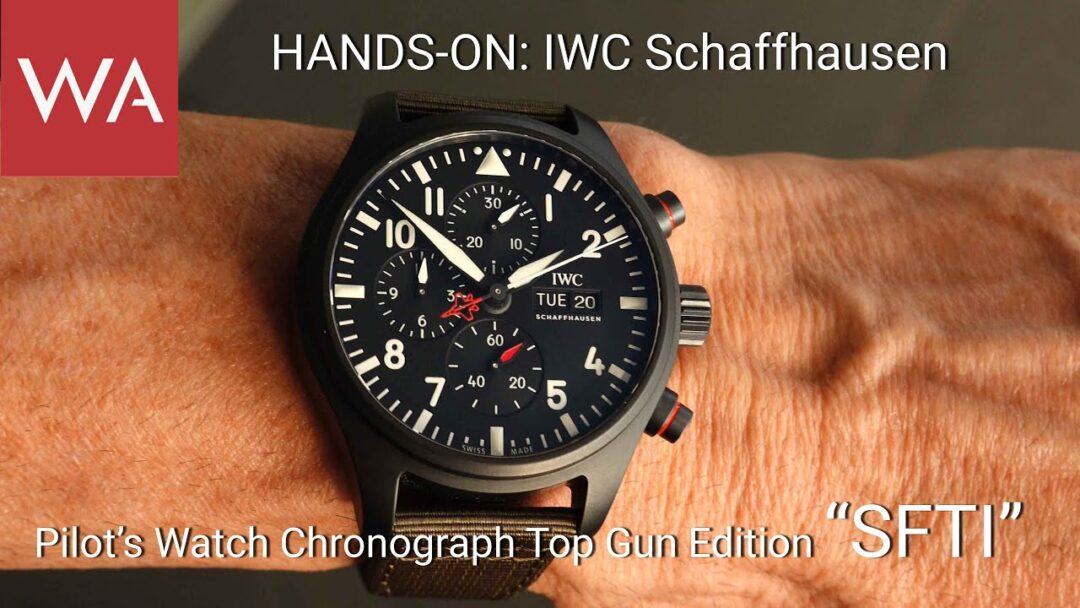 "Hands-on: IWC Schaffhausen Pilot's Watch Chronograph TOP GUN Edition ""SFTI"""