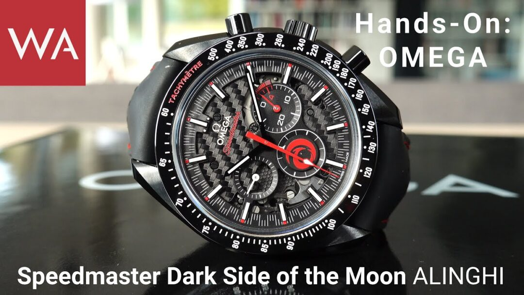 Hands-on: OMEGA Speedmaster Dark Side of the Moon ALINGHI. What a beautiful chronograph!