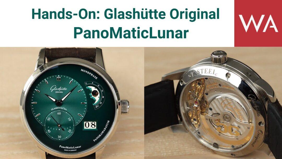 Hands-On: Glashütte Original PanoMaticLunar. NEW! Green and black dial with dégradé effect.