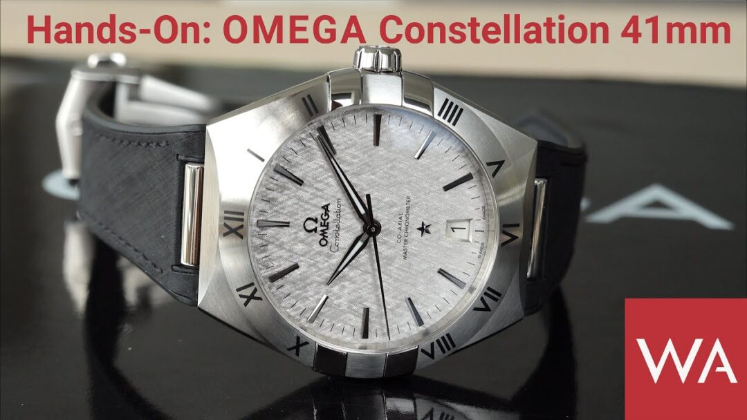 Hands-On: OMEGA Constellation Co-Axial Master Chronometer 41mm. Steel on rubber strap.