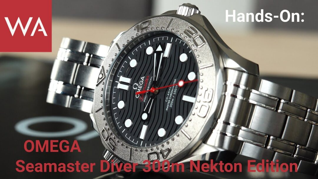 Hands-On: OMEGA Seamaster Diver 300m NEKTON Edition 42 mm. Support a very worthwhile cause!