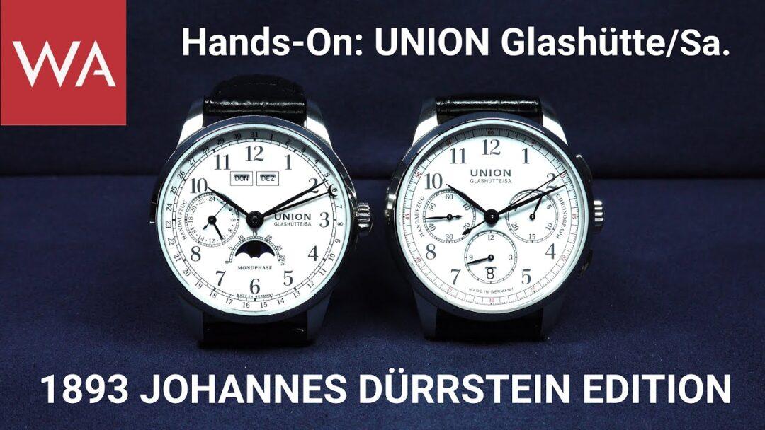 Narrative Description: UNION Glashütte/SA. 1893 Johannes Dürrstein Edition Chronograph & Moon Phase