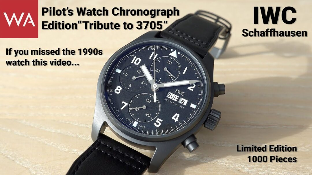 "IWC Schaffhausen Pilot's Watch Chronograph ""Tribute to 3705"". For those who missed the 1990s!"
