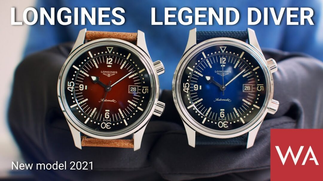 LONGINES Legend Diver Watch 2021. Two colorful additions to the collection.