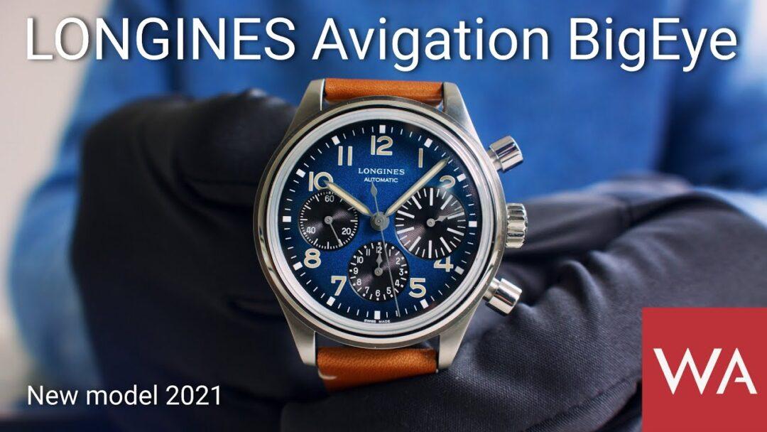 LONGINES AVIGATION BIGEYE. New Model 2021. Titanium Case. Petroleum Blue Dial.