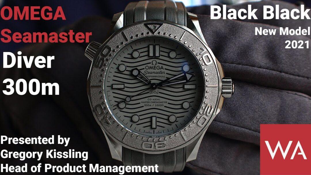 OMEGA Seamaster Diver 300M Black Black. New 2021 model in the blackest black.