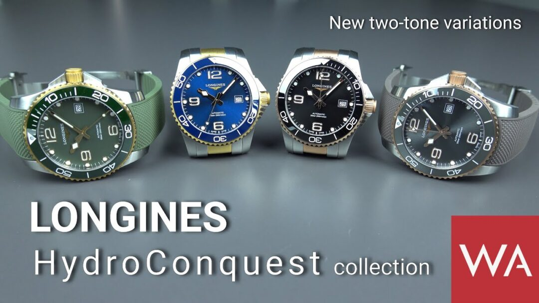 LONGINES HydroConquest. NEW beautiful rose and yellow PVD variations.