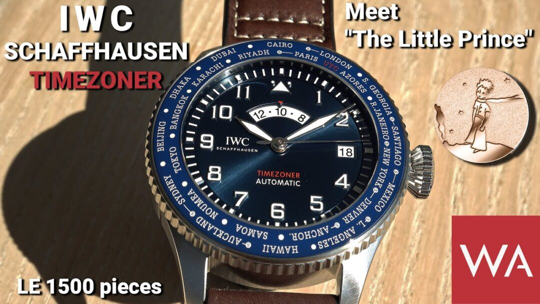 """IWC Schaffhausen PILOT'S WATCH TIMEZONER EDITION """"LE PETIT PRINCE"""". LE 1500 pieces."""