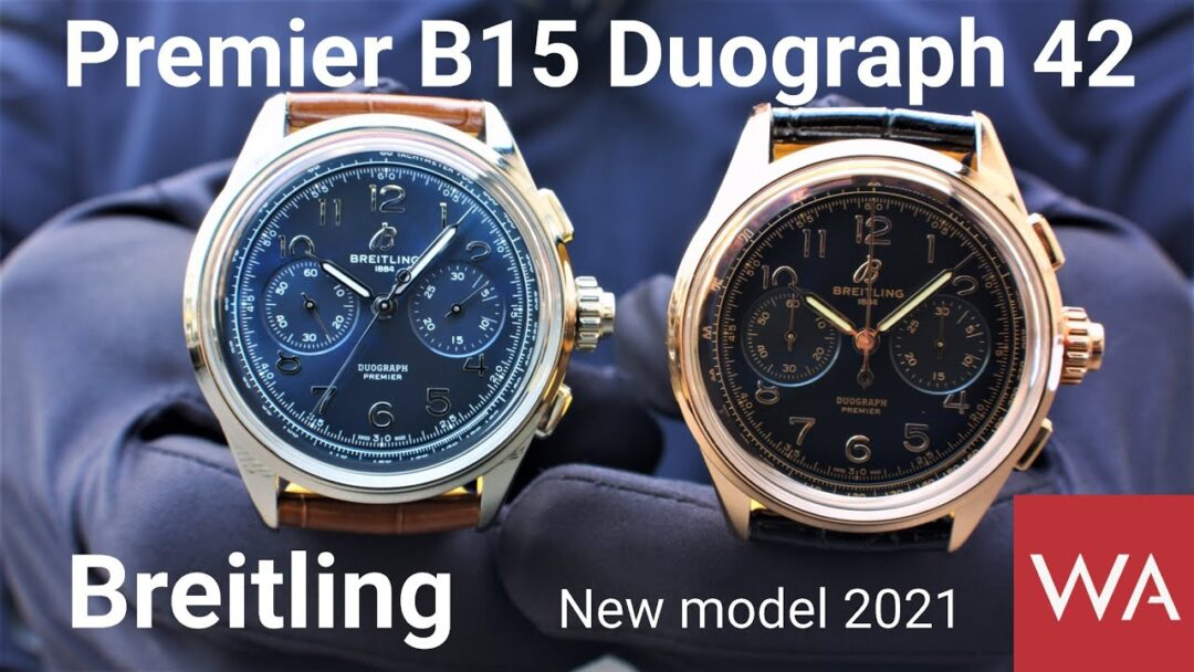 BREITLING Premier B15 Duograph 42. NEW Split-Second Chronograph with in-house Calibre.