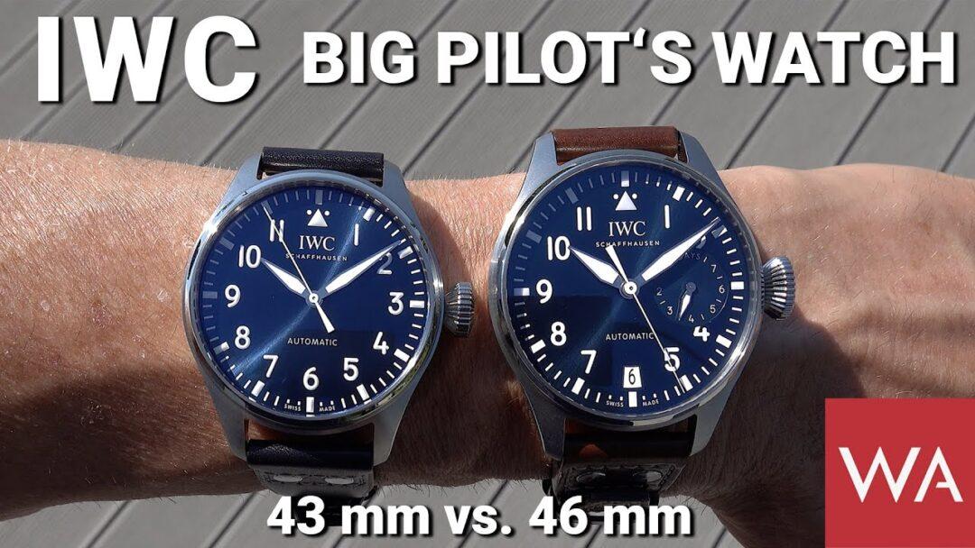 "IWC Schaffhausen BIG PILOT's WATCH. New 43 mm vs. ""old"" 46,2 mm."